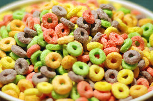 Sand Ceremony With Fruit Loops Instead Of Sand