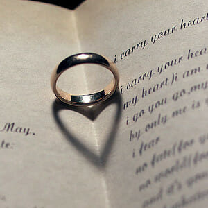 Add more romance with wedding poetry