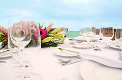 beach wedding reception photo